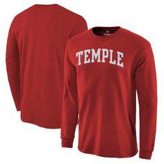 Temple Owls Basic Arch Long Sleeve T-Shirt - Garnet - $14.39