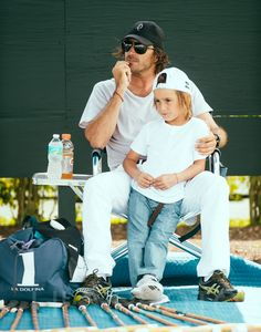 Polo player Adolfo Cambiaso and son.