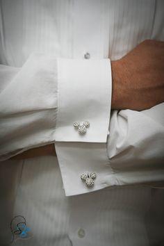 Mickey mouse cufflink for the groom. Disney Wedding at Home: Jenifer + Dave. See the photos at http://magicaldayweddings.com/disney-wedding-at-home-jenifer-dave/