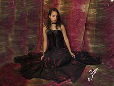 Dark gothic romantic corset dress dark red burgundy Black skirt & corset costume vampire goth victorian steampunk gothic bustier US$73