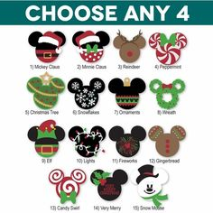 Disney Christmas decals