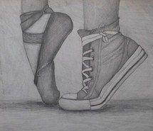 art, ballet, beat, beautiful, best, converse, cute, dance, drawing, feeling, friends, girl, heart, memories, moments, pencil, perfect, time, wonderful, wow, black &amp, white - image #2465652 by Laura