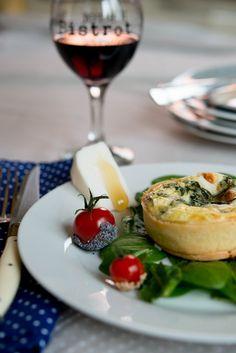 Rezept: Quiche au saumon ou chèvre et épinards ( Quiche mit Lachs oder Ziegenkäse und Spinat )   www.franzoesischkochen.de