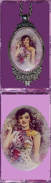 22 € ❄ B016 ❄ VENTE EN LIGNE sur ALittleMarket #GabyFéerie #collier #asiatique #fleurs #faitmain #FJV_Jewelry #necklace #asian #flower #handmade #singlemodel::