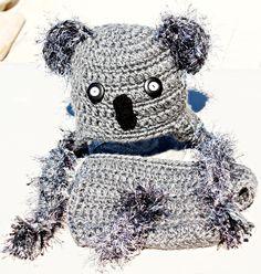 Ready to Ship Koala Bear Hat and Diaper Cover Set. $21.99, via Etsy.