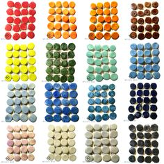 MOSAIC INSERT SET: CERAMIC SMALL ROUND TILES (20) #MosaicMad, #ceramicinserts, #mosaictiles Mosaic Tiles, Mad, Collections, Shapes, Ceramics, Abstract, Mosaic Pieces, Ceramica, Summary