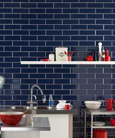 Diamante Blue Tile | Topps Tiles