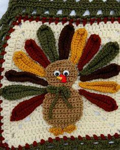 Thanksgiving Turkey Afghan Crochet Pattern