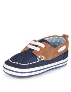 Suede Pram Boat Shoes