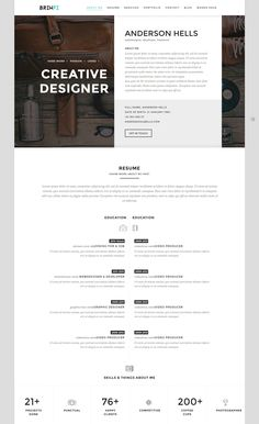 Page Modern Resume Template Instant Download Cv Template