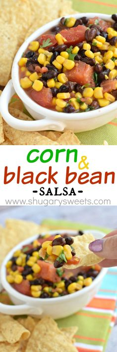 Forget buying jars of salsa when you can make this delicious Corn and Black Bean Salsa at home!