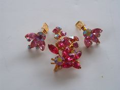 Signed Beau Jewels Pink Rhinestone Brooch & by pasttimejewelry, $42.00