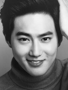 "EXO from Portraits Eye Contact 눈빛"" Photo Exhibition Alien Life Forms, Instagram King, K Pop Boy Band, Exo Luxion, Kim Joon, Suho Exo, Exo Kai, Kim Junmyeon, Exo Memes"