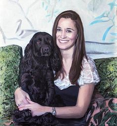"""Gert's Royals on Twitter: """"Pippa and pooch Zulu in 'first official portrait' painted 2 years ago."""