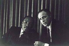 Martin Luther King Jr & Marlon Brando