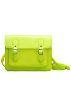 ROMWE | Metal Buckles Fluorescent Green Bag, The Latest Street Fashion #ROMWEROCOCO