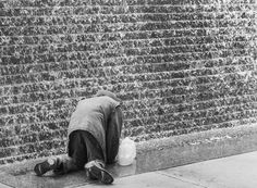 Early The wall street wall of water. A place for poor people to crawl on their knees and fill up plastic jugs of water. A few blocks from Stock Exchange. Wall Of Water, Plastic Jugs, Random Acts, Wall Street, Fill, Black And White, People, Black N White, Black White