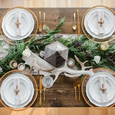 Brides.com: . A runner made of fresh, seasonal greenery is a chic way to decorate tables at your winter reception. Paired with gold flatware, you'll have a glamorous reception space that feels wintry and inviting.