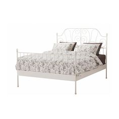 LEIRVIK Bed frame IKEA 17 slats of layer-glued birch adjust to your body weight and increase the suppleness of the mattress.