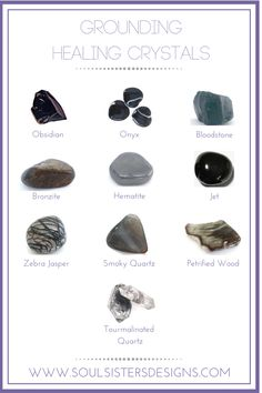 Healing Crystals that will help to keep you grounded by Soul Sisters Designs