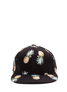 18ea10dda6d Pineapple Upside Down Cap BLACK WHITE - GoJane.com Pineapple Hat