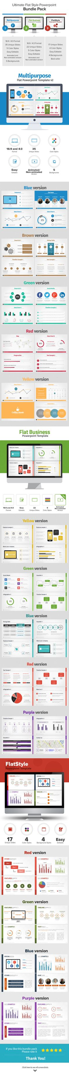 Ultimate Flat Style PowerPoint Bundle Pack on Behance