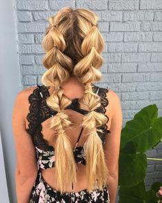 "282 Likes, 16 Comments - Hannah Holsomback (@bighairedhannah) on Instagram: ""Cool for the summer • • • • • • • • • • #fun #fesivalhair #summerhair #summer #braid #braided…"""
