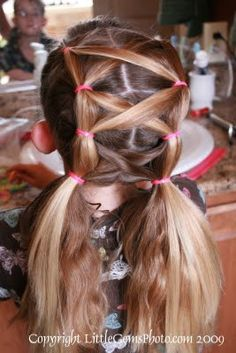Crisscross pony tails