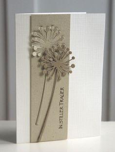 Elegante Trauerkarte von Blütenstempel auf DaWanda.com
