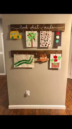 artwork display ideas & artwork display for kids ; artwork display for kids classroom ; artwork display for kids wall ideas ; artwork display for kids diy ; Displaying Kids Artwork, Artwork Display, Hanging Kids Artwork, Art Wall Kids Display, Kids Art Storage, Kids Bedroom Storage, Family Wall Art, Art For Kids, Crafts For Kids