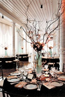 Brides: Wedding Centerpieces | Wedding Centerpieces by Table Style and Design | Wedding Flowers | Wedding Reception Tables