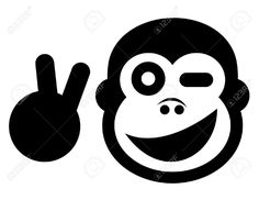 Happy Gorilla Royalty Free Cliparts, Vectors, And Stock Illustration. Image 16970372.