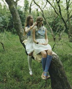 Inka and Neele Hoeper photographed by Osamu Yokonami for So-En Magazine July Dolores Haze, Inka, Just Girl Things, Street Style, Vintage Girls, Girly Outfits, Feminine Style, Malta, Blond