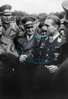 Adolf Galland, officer, fighter pilot, Germany - in a group of officers