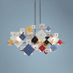 Possini Euro Customizable Squares Pendant Light | LampsPlus.com
