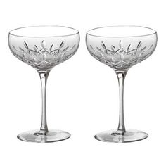 Crystal Champagne Saucers. Might be what I want...  Lismore Essence Champagneskål/kupa, 2-Pack - Waterford - Waterford - RoyalDesign.se