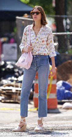 Summer in the city: Alexa Chung looked effortlessly cool in another style hit as she hit the New York on Wednesday