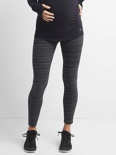 Maternity GapFit full panel leggings..exactly what I've been looking for!!! so excited! #love #soft #comfy #cute #ad #maternity #leggings