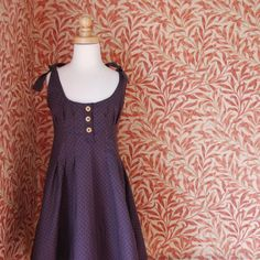 Girls sundress with button placket and pleats  by SchoolHouseFrock, $64.00