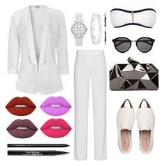 """"""""""" by timeless-fashion-chic ❤ liked on Polyvore featuring Miu Miu, Glamorous, DKNY, Heidi Klein, Yves Saint Laurent, WithChic, Cartier, Gucci, Lime Crime and Trish McEvoy"""