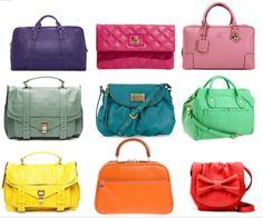 colorful purses
