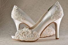 Wedding Shoes - Custom 250 Color Choices- PB525 Vintage Wedding ...