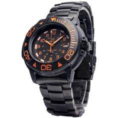 Smith & Wesson Diver Tritium Watch, 40 mm, w/ orange Face,w/ Black & Metal Strap. $129.95 Havilandoutdoorsupplies price $71.50