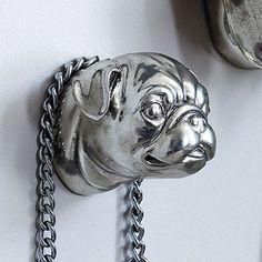 pug head leash hook!