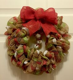 Home decor Deco mesh Christmas wreath holiday wreath by ConradCreationsStore on Etsy
