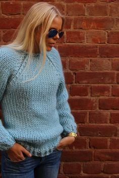 Genser på 1-2-3  En kjappstrikket genser som du strikker på et par kvelder hvis du har strikket litt. Et supert prosjekt hvis du er nybegynner og har lyst til å prøve deg på et større og overkommeli