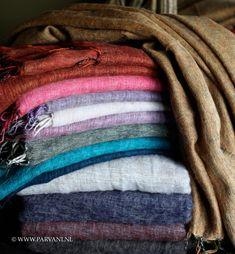 Parvani | Plaids-sjaal-yak-wol-verschillende-kleuren
