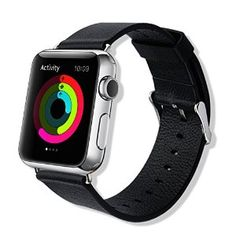 Amazon.com: Baseus iWatch Genuine Leather Replacement Strap Wrist Band Straps for Apple Watch 42mm Classic Buckle & Modern Buckle: Cell Phones & Accessories