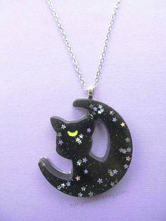 Luna collar - Sailor Moon-Anime-Fairy Kei-Kawaii-Diana-Artemisa
