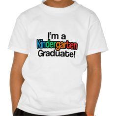 Colorful Kids Graduation Kindergarten Graduate T Shirt